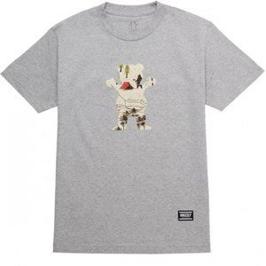 GRIZZLY Trail Map OG Bear T-Shirt in Heather Grey